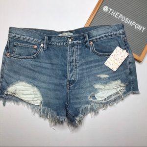 Free People Shorts - NWT Free People Loving Good Vibration Denim Shorts